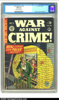 Golden Age (1938-1955):Crime, War Against Crime #5 (EC, 1949) CGC GD/VG 3.0 Cream to off-white pages. 2 center wraps detached. Johnny Craig and Al Feldste...