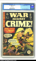 Golden Age (1938-1955):Crime, War Against Crime #9 (EC, 1949) CGC VG+ 4.5 Cream to off-white pages. Johnny Craig and Al Feldstein artwork. Overstreet 2002...