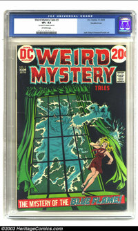 """Weird Mystery Tales #3 Double Cover (DC, 1972) CGC VF+ 8.5 Off-white pages. CGC notes: """"first cover 6.5, interior c..."""