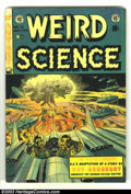 Weird Science #18 (EC, 1953) Condition: FN. Fantastic flying saucer cover by Wally Wood. Overstreet 2003 FN 6.0 value =...