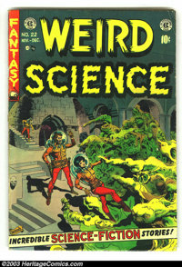 Weird Science #22 (EC, 1953) Condition: VG-. Cool Pre-code horror. Last issue. Art by Williamson, Frazetta, Krenkel, Kri...