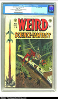 "Golden Age (1938-1955):Science Fiction, Weird Science-Fantasy #23 (EC, 1954) CGC VG+ 4.5 Cream to off-white pages. Cover detached from bottom staple only. ""A"" writt..."