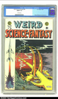 Golden Age (1938-1955):Science Fiction, Weird Science-Fantasy #28 (EC, 1955) CGC FN/VF 7.0 Off-white pages.Wally Wood, Al Williamson and Jack Kamen artwork. Overst...