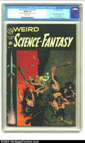 Golden Age (1938-1955):Science Fiction, Weird Science-Fantasy #29 (EC, 1955) CGC VG/FN 5.0 Off-white pages. Classic Frank Frazetta cover. One piece of tape attachin...