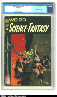 Weird Science-Fantasy #29 (EC, 1955) CGC VG/FN 5.0 Off-white pages. Classic Frank Frazetta cover. One piece of tape atta...