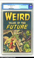 Golden Age (1938-1955):Horror, Weird Tales of the Future #1 (Aragon, 1952) CGC VF- 7.5 Off-whitepages. Here is one of those covers! Spectacular in composi...