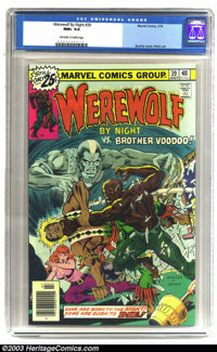 Werewolf by Night #39 (Marvel, 1976) CGC NM+ 9.6 Off-white to white pages. Werewolf vs. Brother Voodoo. Overstreet 2003...