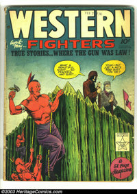Western Fighters Vol. 1, #7 (Hillman Fall, 1949) Condition: VG. Overstreet 2003 VG 4.0 value = $20