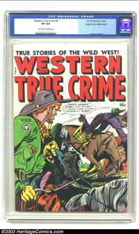 Western True Crime #4 Mile High pedigree (Fox, 1949) CGC VF 8.0 Off-white to white pages. This cover shows a cowboy trip...