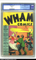 Wham Comics #1 Denver pedigree (Centaur, 1940) CGC NM 9.4 White pages. This Craig Carter cover features a gang of thugs...