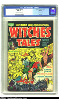 Golden Age (1938-1955):Horror, Witches Tales #9 File Copy (Harvey, 1952) CGC FN- 5.5 Cream tooff-white pages. Classic '50s Harvey horror comic; bondage co...