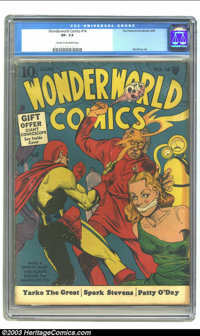 WonderWorld Comics #14 (Fox, 1940) CGC VF- 7.5 Cream to off-white pages. What could be better than a Fox comic with a bo...