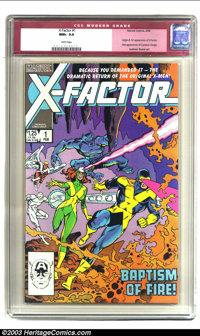 X-Factor #1 (Marvel, 1986) CGC NM+ 9.6 White pages. Origin and first appearance of X-Factor; first appearance of Cameron...