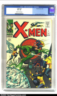 X-Men #21 (Marvel, 1966) CGC VF+ 8.5 Off-white to white pages. Jay Gavin and Dick Ayers art. Overstreet 2003 VF 8.0 valu...