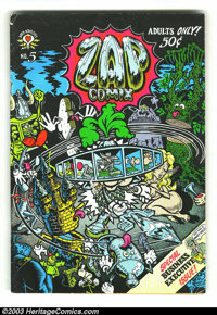 Zap Comix #5 (GD/VG) & #6 (FN-) First Prints (Apex Novelties, 1970). This lot consists of issues number 5 and 6 of w...