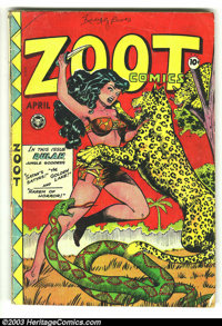 "Zoot Comics #13 (Fox Features Syndicate, 1948) Condition: FR. 1/2"" x 3"" sections cut from 2 different panels..."