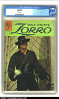 Silver Age (1956-1969):Adventure, Zorro #15 (Dell, 1961) CGC NM+ 9.6 Off-white pages. Walt Disney's Zorro; last photo cover. Overstreet 2003 NM 9.4 value = $1...