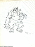 Original Comic Art:Sketches, Victor Dal Chele - Two Fantasy Illustrations (undated). Two unpublished illustrations includes a hulkish ogre (on thin traci...