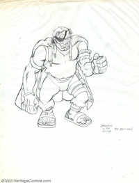 Victor Dal Chele - Two Fantasy Illustrations (undated). Two unpublished illustrations includes a hulkish ogre (on thin t...