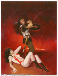 Enrich - Original Cover Art for Vampirella #104 (Warren, 1980). Lush, gorgeous painting from the last days of Warren's V...