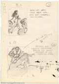 """Original Comic Art:Sketches, Frank Frazetta - Original Preliminary Sketch for Midwood Paperback Series #2 of 2 (1962). After leaving his job as """"ghost"""" a..."""
