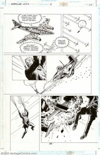 Russ Heath - Original Art for Enemy Ace: War in Heaven #2, Lot of 3 pages (DC, 2001). Three exciting pages (20, 27, and...