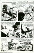 Original Comic Art:Panel Pages, Russ Heath - Original Art for G.I. Combat #129, story page 12 (DC, 1967). A superb Silver Age page from Russ Heath's long ru...