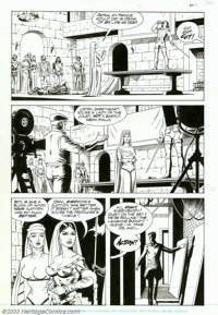Russ Heath - Original Art for Rocketeer Movie Adaptation, Lot of 4 pages (1991). Four more excellent pages from Russ Hea...