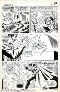 John Romita - Original Art for Daredevil #14 (Marvel, 1965). With both halves of the priceless medallion now in his poss...