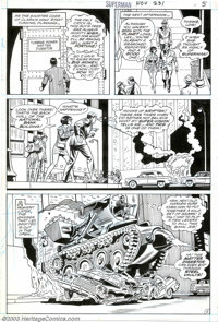 Curt Swan - Original for Superman #231 (DC, 1970). The Matter Digestor makes a spectacular debut in the final panel of t...