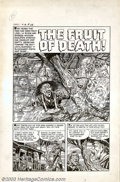 "Original Comic Art:Complete Story, Unknown Artist - Original Art for Chamber of Chills #12, Complete 5-page Story, ""The Fruit of Death!"" (Harvey, 1953). For ye..."