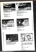 Memorabilia:Miscellaneous, Victor Dal Chele - Storyboards (undated). A series of xerox copies of storyboards from an unnamed (and probably unproduced) ...