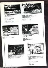 Victor Dal Chele - Storyboards (undated). A series of xerox copies of storyboards from an unnamed (and probably unproduc...