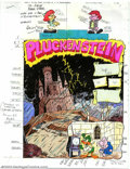 Memorabilia:Miscellaneous, Victor Dal Chele - Hand-Painted Color Guides to Pluckenstein (1993). From an unidentified Tiny Toons comic, this is the ...