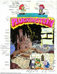 Victor Dal Chele - Hand-Painted Color Guides to Pluckenstein (1993). From an unidentified Tiny Toons comic, this is the...