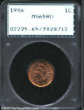 Indian Cents: , 1906 1C MS65 Red PCGS. A rock solid Gem with bright, ...