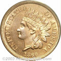 Proof Indian Cents: , 1860 1C PR65 PCGS. At and above the Gem level of ...
