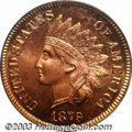 Proof Indian Cents: , 1879 1C PR66 Red PCGS. With a respectable original ...