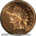 Proof Indian Cents: , 1884 1C PR66 Red PCGS. With full orange-red luster and ...