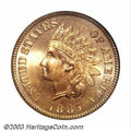 Proof Indian Cents: , 1885 1C PR65 Red PCGS. The 1885 is a scarcer issue from ...