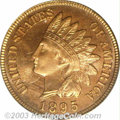 Proof Indian Cents: , 1895 1C PR66 Red PCGS. Eagle Eye Photo Seal. Richly ...