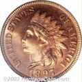 Proof Indian Cents: , 1897 1C PR65 Red PCGS. Eagle Eye Photo Seal. Even if the ...