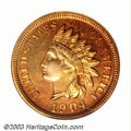 Proof Indian Cents: , 1904 1C PR65 Red PCGS. Variegated orange and red shades ...