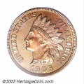 Proof Indian Cents: , 1906 1C PR65 Red PCGS. Whereas many proof Indian Cents ...