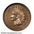 Proof Indian Cents: , 1861 1C PR65 NGC. One of several high grade proof 1861 ...