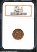 Proof Indian Cents: , 1870 1C PR64 Red NGC. Every feature is sharply detailed, ...