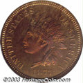 Proof Indian Cents: , 1877 1C PR66 Red and Brown NGC. Bright and flashy overall ...