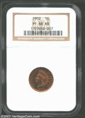 Proof Indian Cents: , 1902 1C PR66 Red and Brown NGC. Fully struck and entirely ...