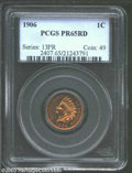 Proof Indian Cents: , 1906 1C PR65 Red PCGS. Sharp striking definition is seen ...