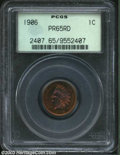 Proof Indian Cents: , 1906 1C PR65 Red PCGS. The centers have iridescent ruby-...